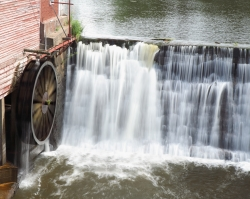 Water wheel used at an old mill