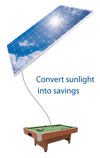 Luce solare in Savings Solar PV