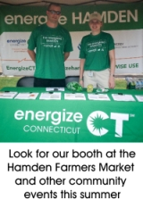Energy Efficiency Professionals at the Energize Hamden Booth